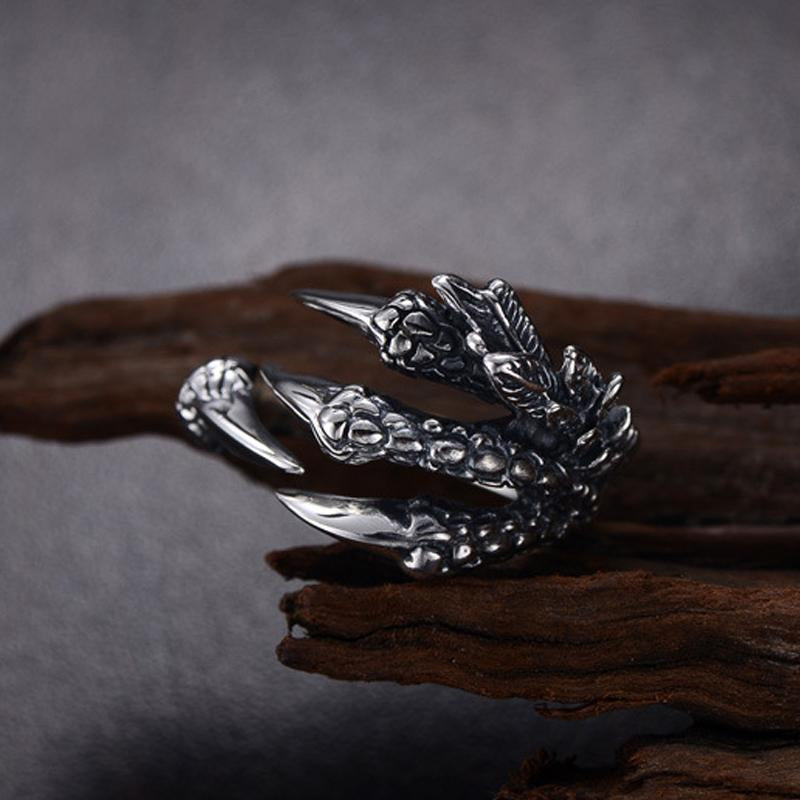 Scaly Dragon Claw Ring