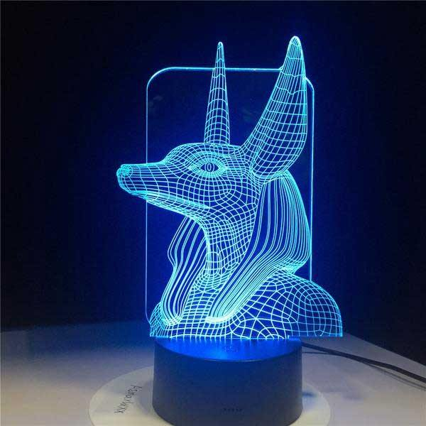Anubis 3D Hologram Lamp