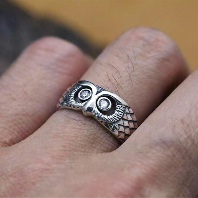 Midnight Owl Ring