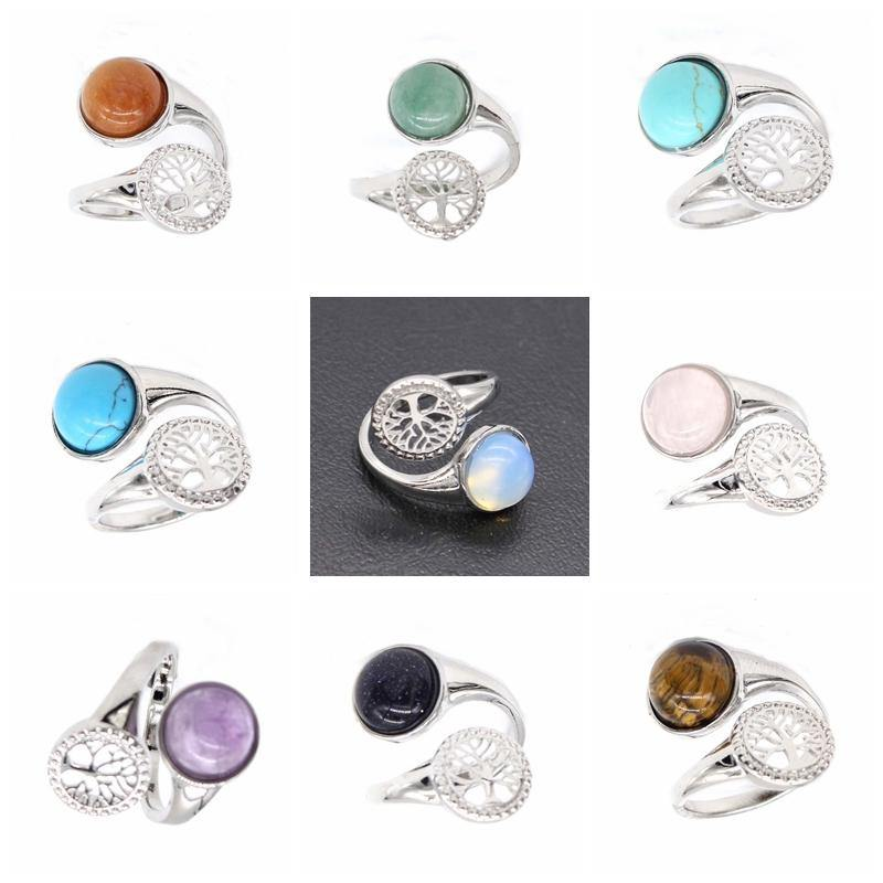 Tree of Life Natural Stone Rings