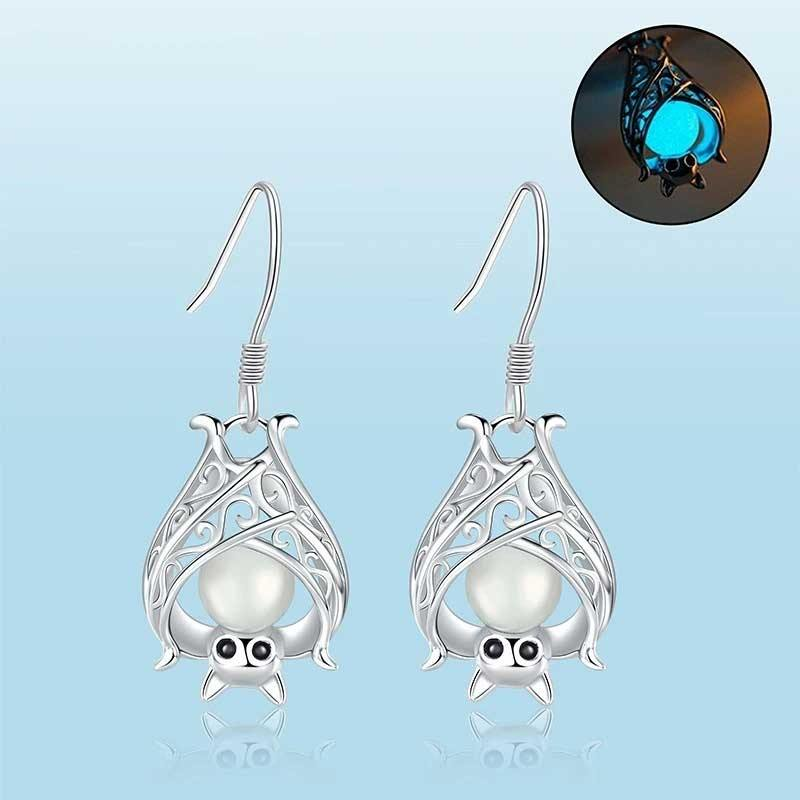 Glow In The Dark Bat Earrings