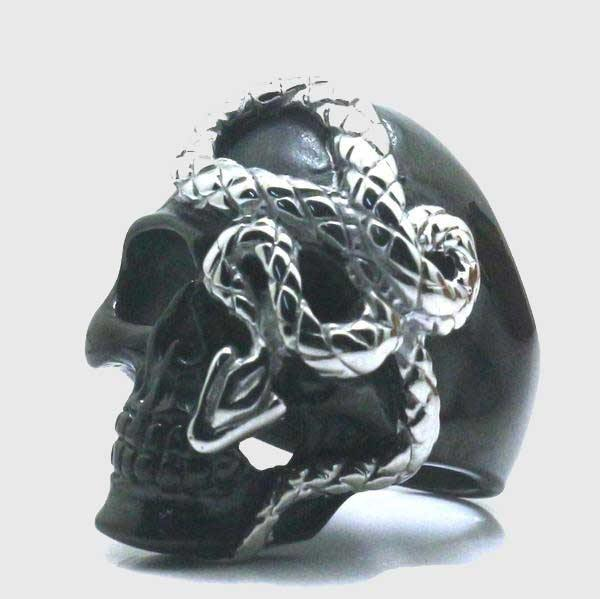 Snake And Skull Ring - Wyvern's Hoard