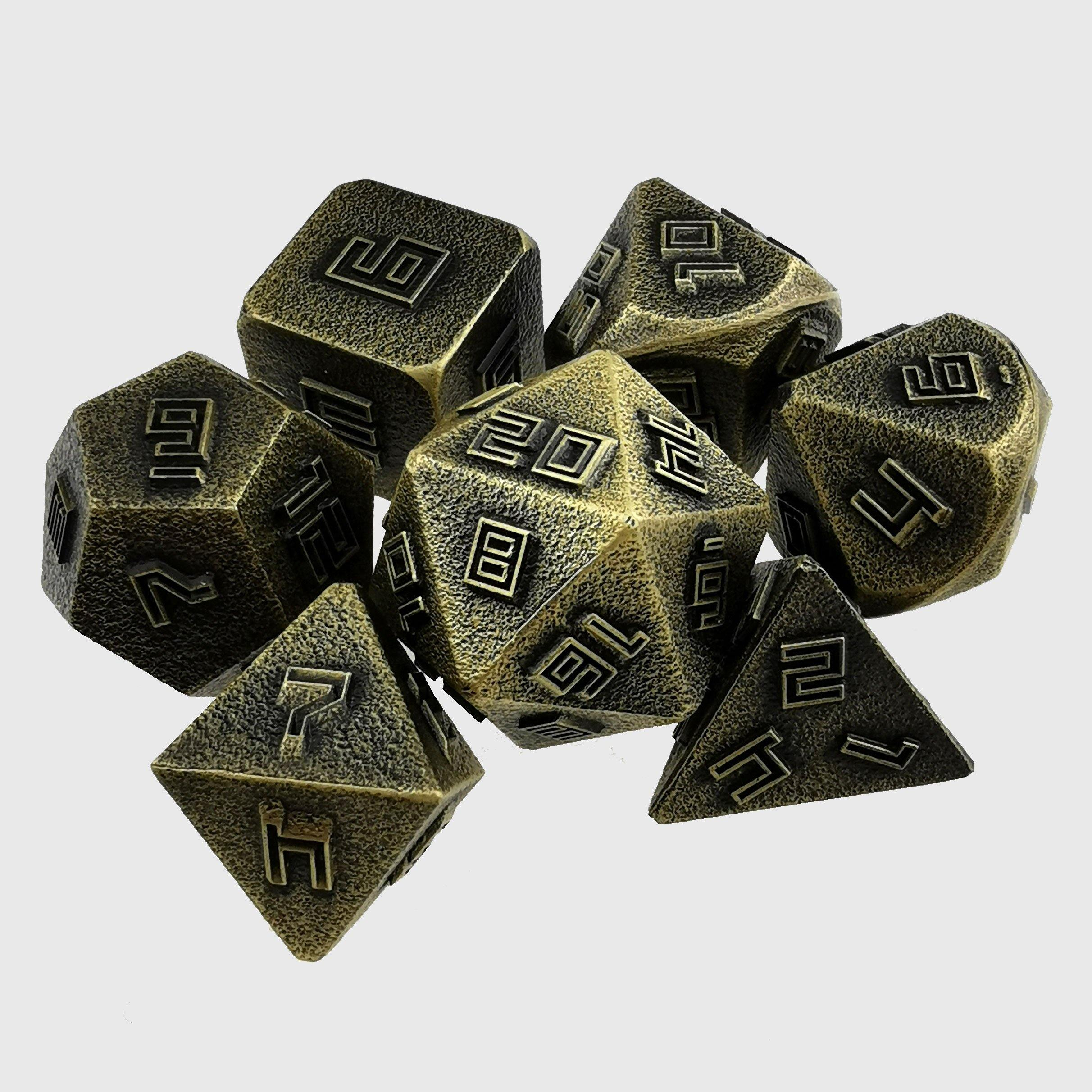 Forged Metal Relief Dice - Wyvern's Hoard