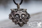 Ancient Gnezdovo Mask Amulet Necklace