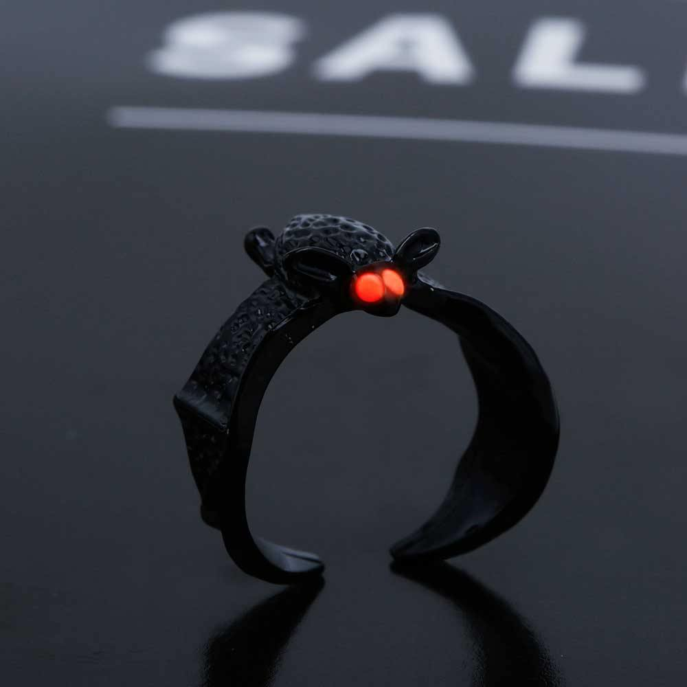 Glow in the Dark Flying Bat Ring