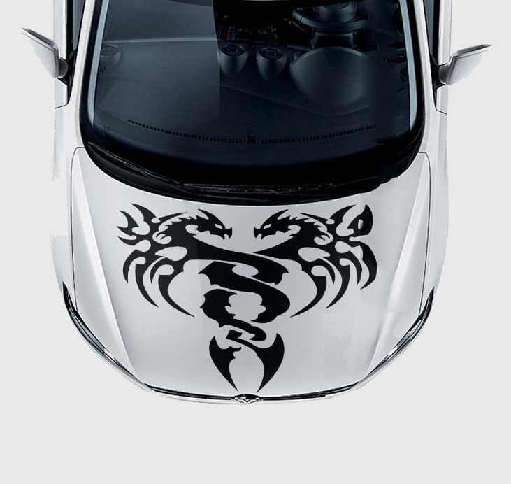 Twin Dragons Car Decal