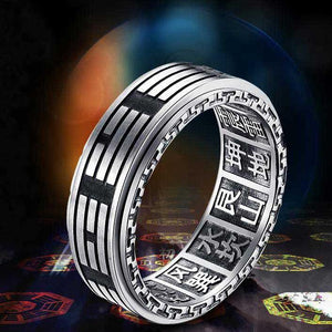 Eight Trigrams Spinner Ring