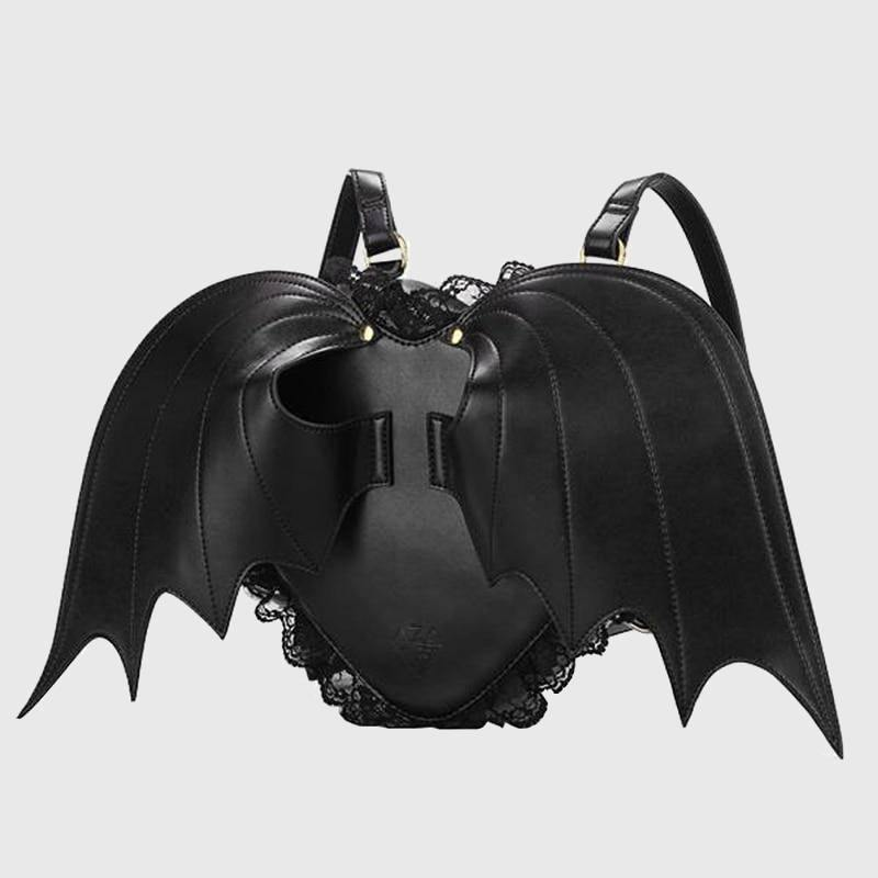 Bat Wings Leather Backpack