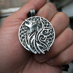 Fenrir Wolf Medallion Necklace - Wyvern's Hoard
