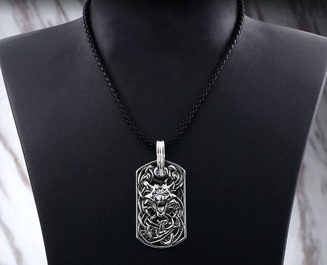 Wolf's Howl Amulet Necklace - Wyvern's Hoard