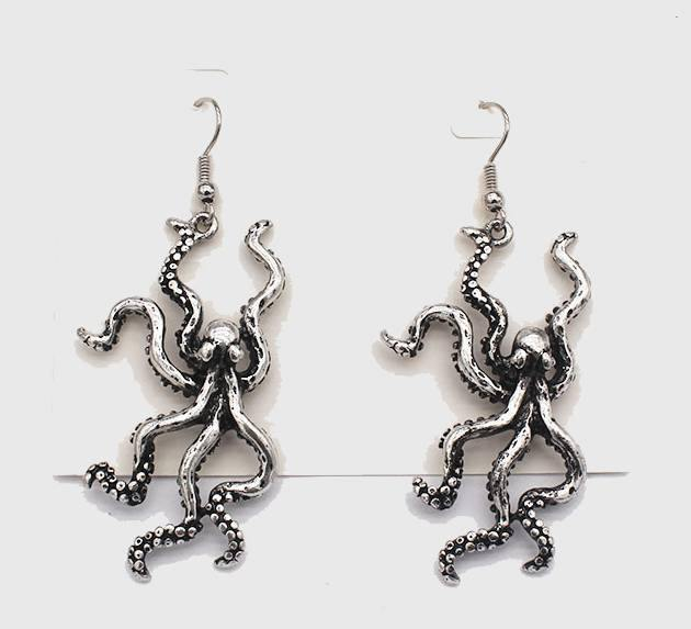 Enraged Kraken Earrings - Wyvern's Hoard