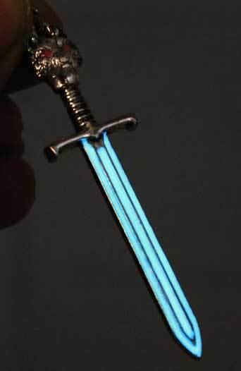The Wolf King's Sword Glow In The Dark Necklace