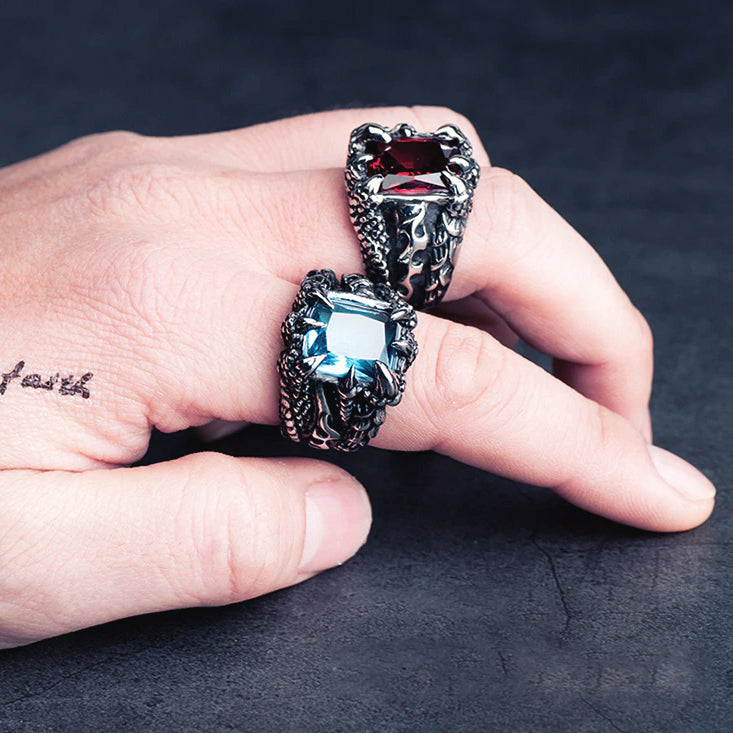 Ice Dragon Claw Ring