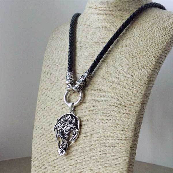Winged Dragon Cross Necklace