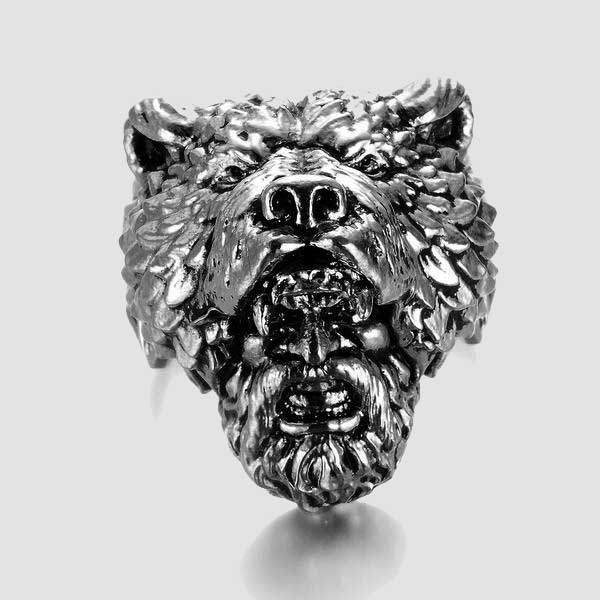 Viking Berserker Bear Ring