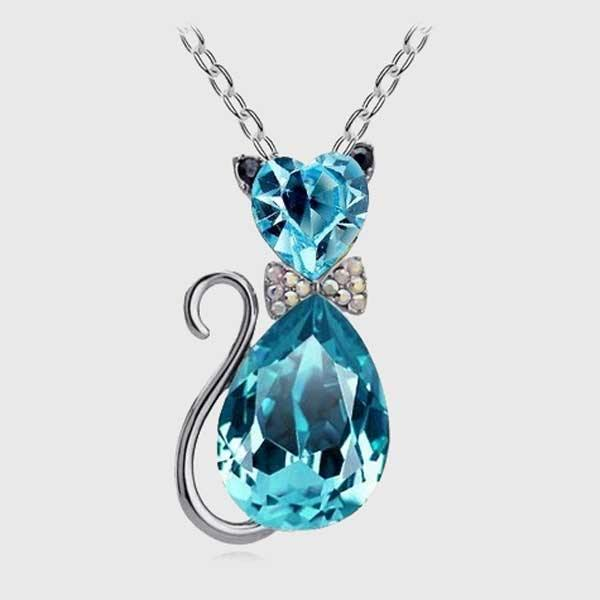Crystal Cat Necklace