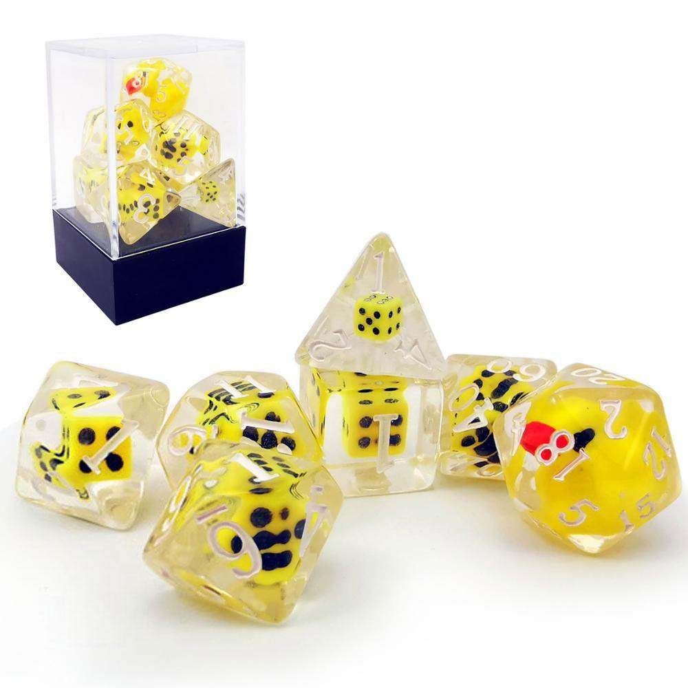 Yellow Duck Dice Set