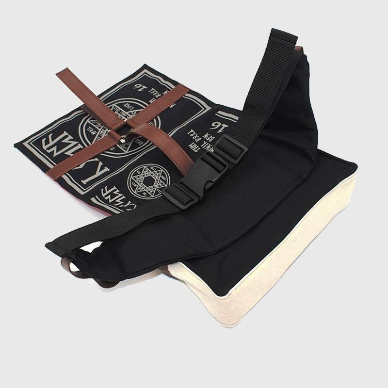Spell Book Canvas Cross-body Bag - Wyvern's Hoard