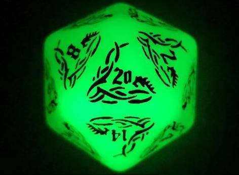 Dark Elves Glow In The Dark  Polyhedral Dice Set - Wyvern's Hoard