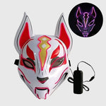 Kitsune Fox Spirit EL Mask