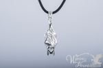 Roosting Vampire Bat Sterling Silver Necklace - Wyvern's Hoard