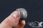 The Horns of Odin Sterling Silver Ring