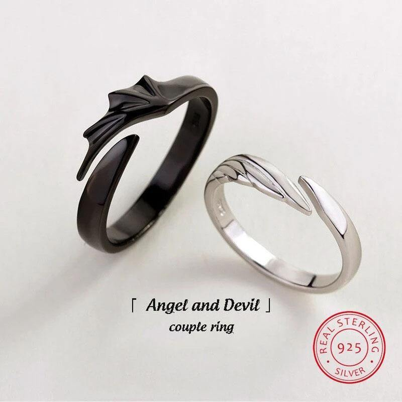 Angel & Devil Divine Couple Rings - Wyvern's Hoard