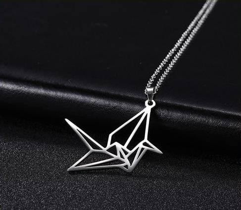 Origami Crane Necklace - Wyvern's Hoard