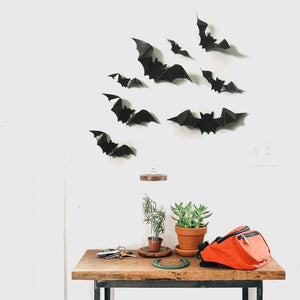 Bat Vinyl Wall Stickers (8 pieces)
