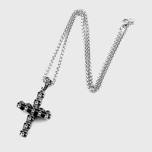 Cross of Skulls Necklace