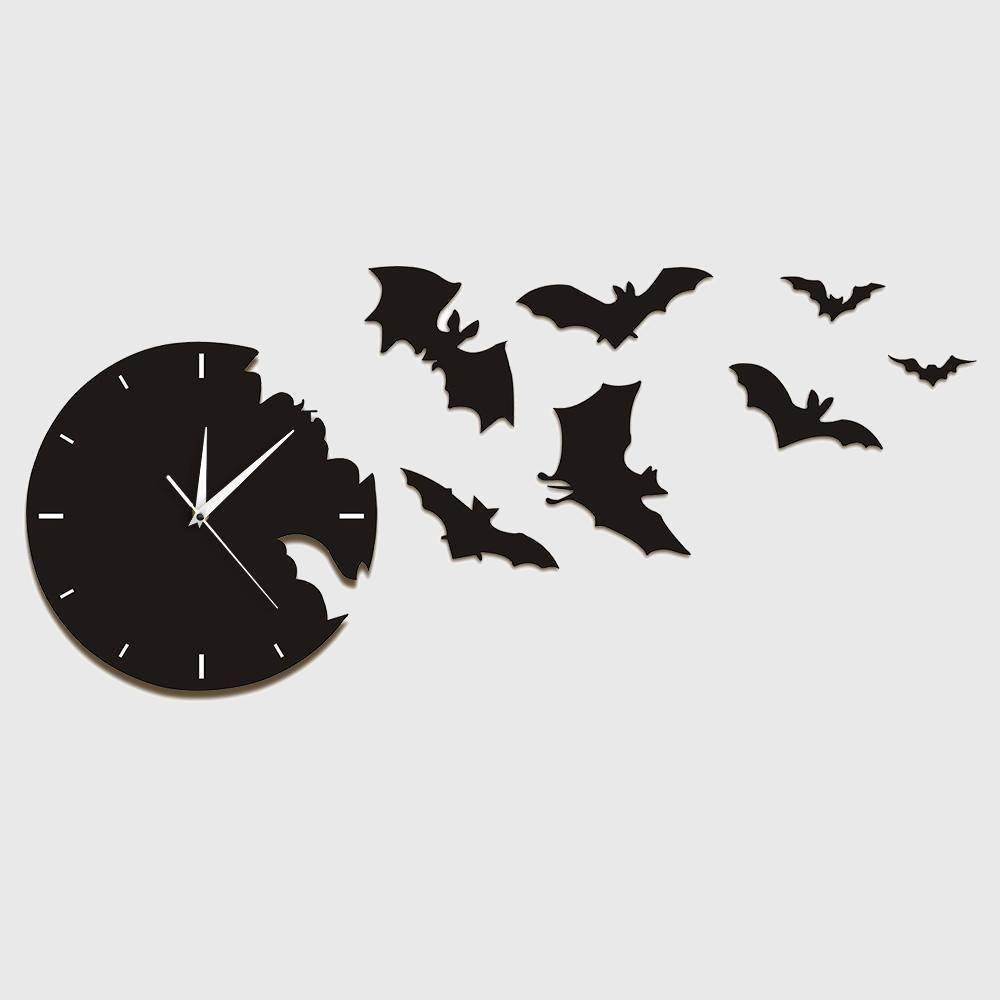 Into the Night Bats Clock