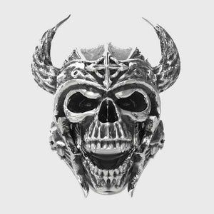 Laughing Viking Skull Ring