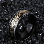 Gilded Celtic Dragon Ring