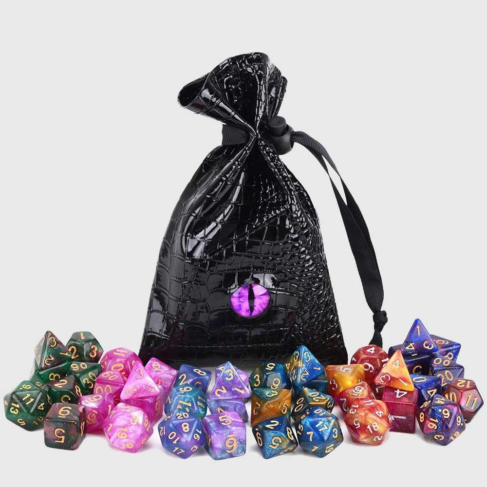 Dragon's Eye Drawstring Dice Bag - Wyvern's Hoard