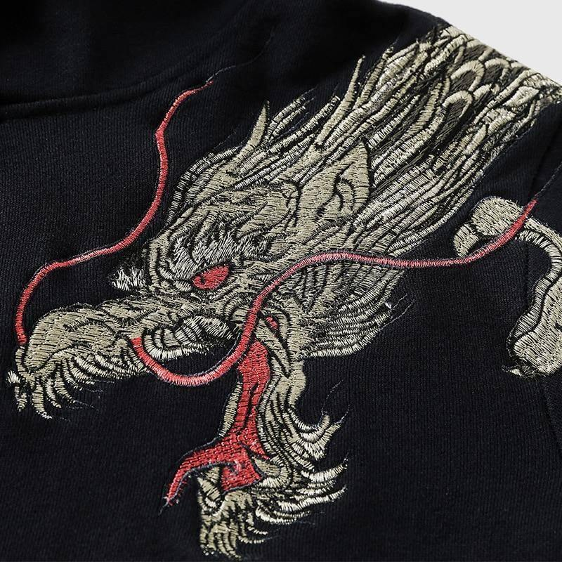 Embroidered Celestial Dragon Hoodie - Wyvern's Hoard