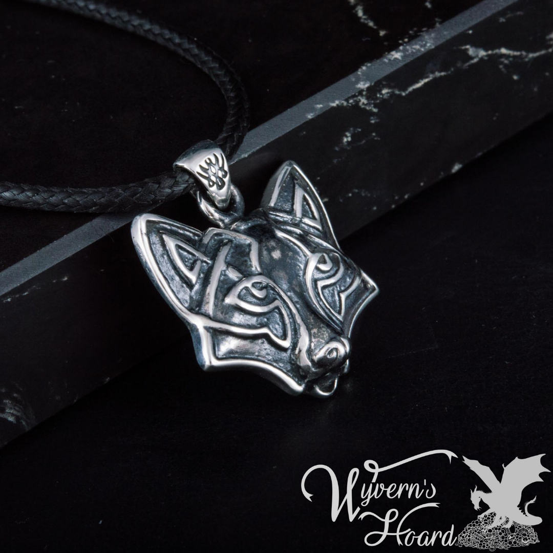 Celtic Fox Sterling Silver Necklace
