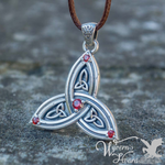 Bejeweled Triquetra Necklace