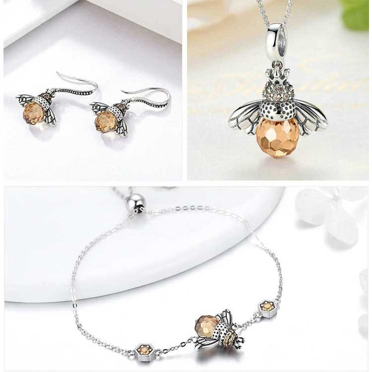 Bumblebee Sterling Silver Jewelry Set - Wyvern's Hoard