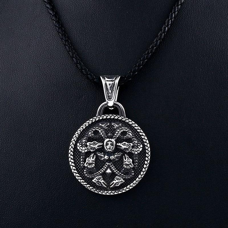 Medusa Medallion Necklace - Wyvern's Hoard