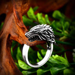 Wolf's Roar Stainless Steel Ring - Wyvern's Hoard