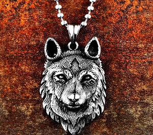 Guardian Wolf Head Necklace