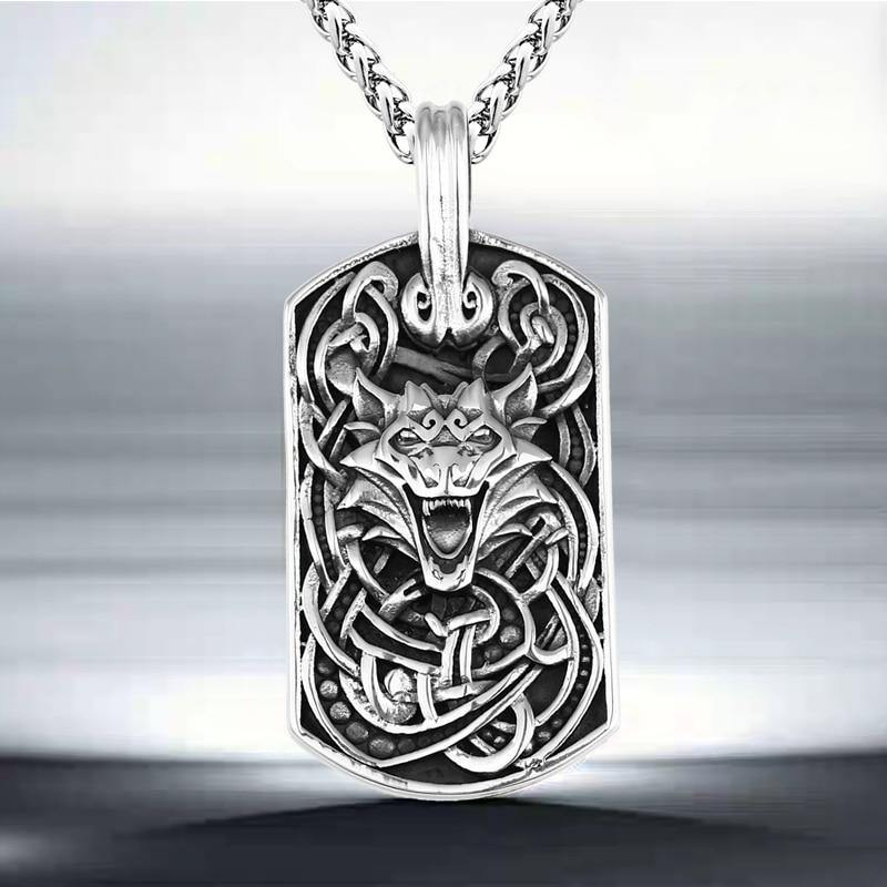 Wolf's Howl Amulet Necklace