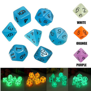 Glow In The Dark Polyhedral Dice Set