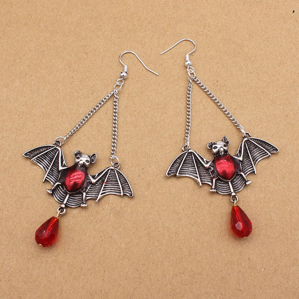 Bejeweled Vampire Bat Earrings - Wyvern's Hoard