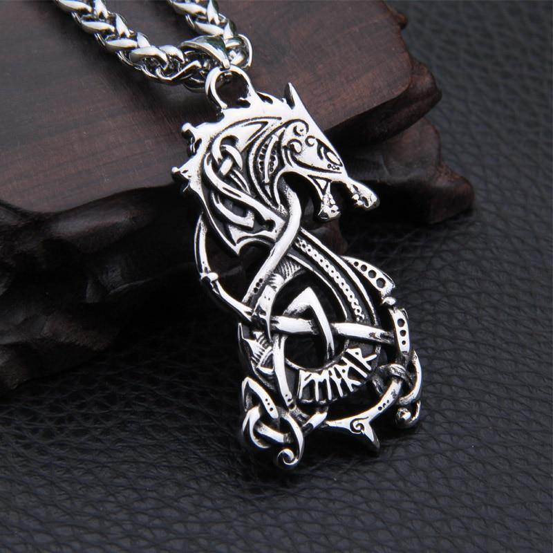 Fenrir Viking Wolf Necklace - Wyvern's Hoard