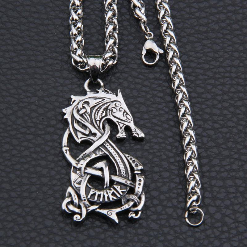 Fenrir Viking Wolf Necklace