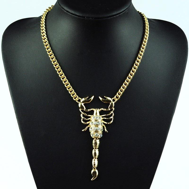 Crystal Scorpion Necklace
