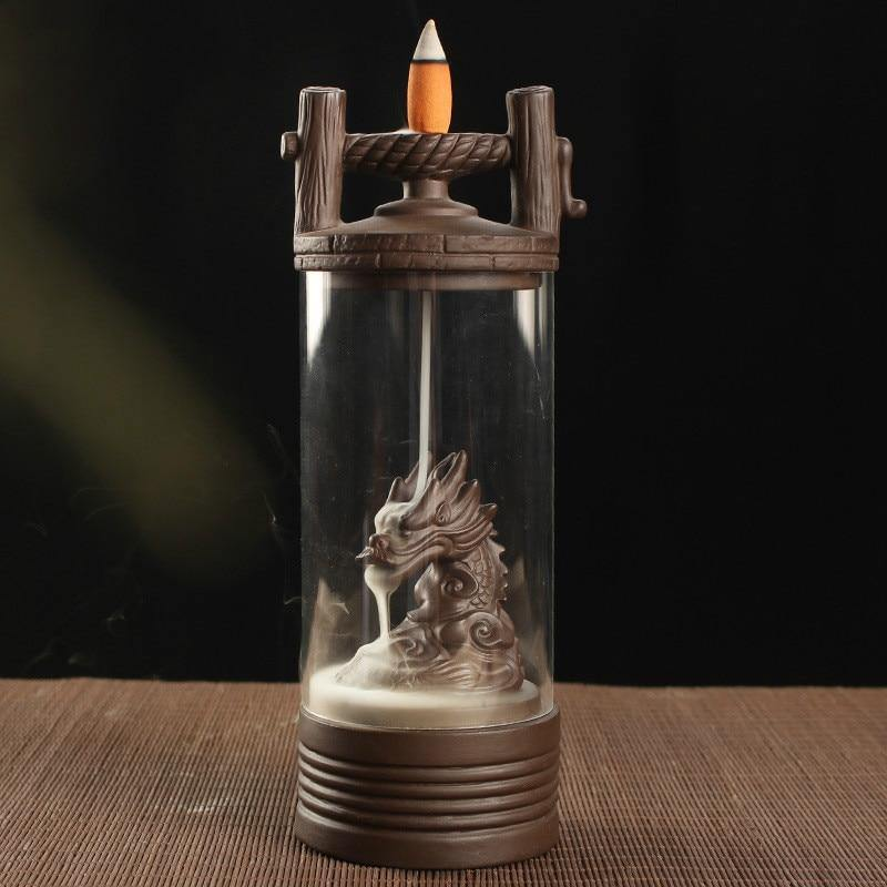 Dragon Lamp Backflow Incense Burner