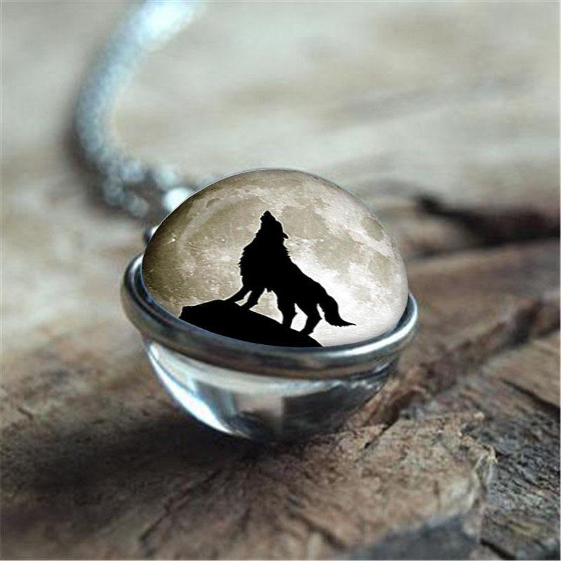 Wolf Moon Sphere Necklaces