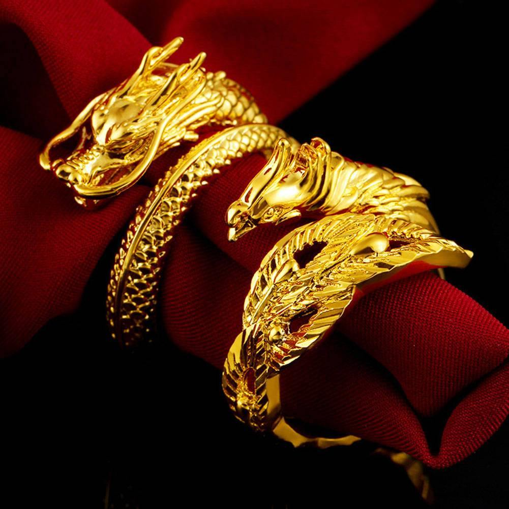Dragon Phoenix Couple Rings - Wyvern's Hoard